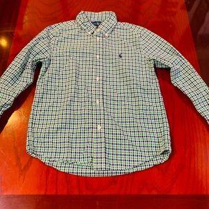 Boys Polo Button Down Long-sleeve